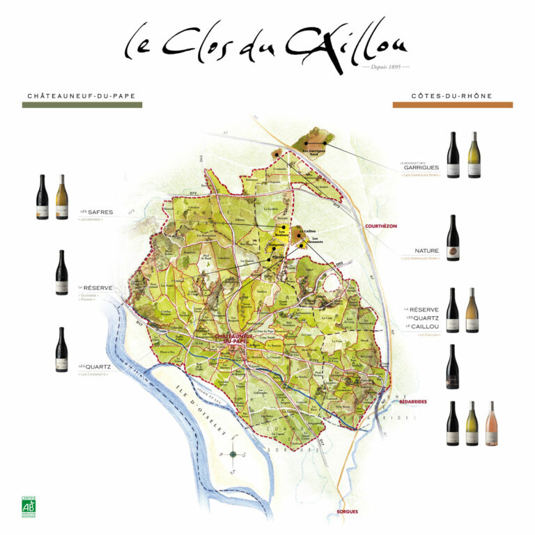 Clos Du Caillou Vineyard Map